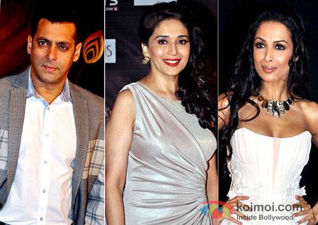 Salman Khan, Madhuri Dixit, Malaika Arora Khan Walk the Red Carpet of Colors Golden Petal Awards