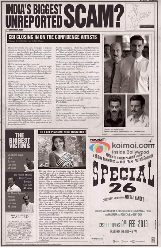 Akshay Kumar, Anupam Kher, Manoj Bajpai, Jimmy Shergill and Kajal Aggarwal in Special Chabbis Movie Poster
