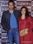 Sudhanshu Pandey And Mona Pandey at the launch of 'Superdry'