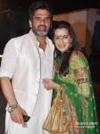 Sunil Shetty And Mana Shetty snapped at a wedding Pic 2