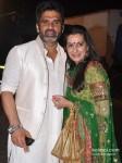 Sunil Shetty And Mana Shetty snapped at a wedding Pic 1
