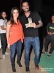 Sunny Leone And Daniel Weber at Gun N Roses concert
