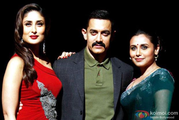 Kareena Kapoor, Aamir Khan and Rani Mukerji in a still from Talaash Movie