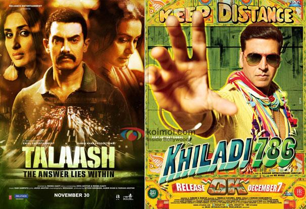 Talaash and Khiladi 786 Movie Poster