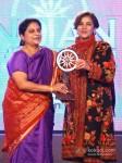 India`s Missile woman Tessy Thomas and bollywood actress Shabana Azmi at the CNN-IBN Indian of the Year 2012 awards in Delhi