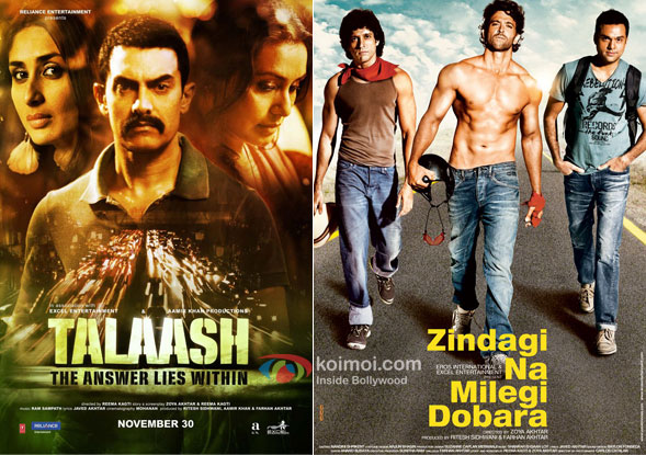 Talaash & Zindagi Na Milegi Dobara Movie Poster