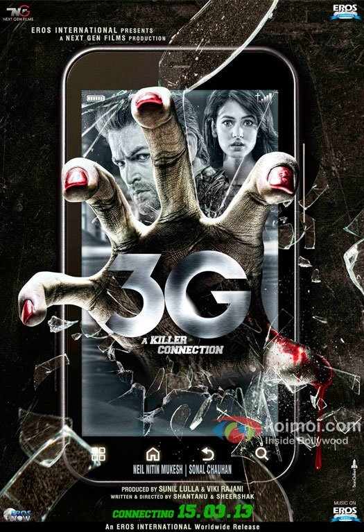 Neil Nitin Mukesh and Sonal Chauhan in 3G Movie Poster