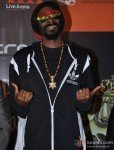 American rapper Snoop Dogg at a party hosted for him by Adidas Originals