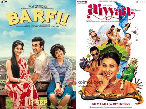 Barfi! and Aiyyaa Movie Poster