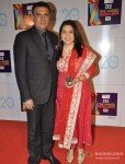 Boman Irani with wife Zenobia Irani at Zee Cine Awards 2013