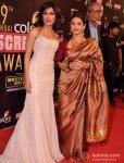Chitrangada Singh And Vidya Balan at Colors Screen Awards 2013