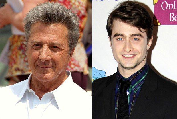 Dustin Hoffman and Daniel Radcliffe