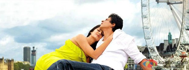 Katrina Kaif And Shah Rukh Khan in a still from Jab Tak Hai Jaan Movie