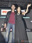 Kartik Tiwari And Nushrat Bharucha At Music Launch of film 'Akaash Vani' Pic 1