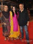 Mahesh Bhatt with wife Soni Razdan and daughter Shaheen Bhatt At Udita Goswami, Mohit Suri's Wedding Ceremony