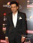 Manoj Bajpai at Colors Screen Awards 2013