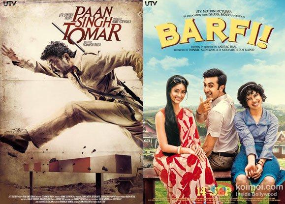 Paan Singh Tomar and Barfi! Movie Poster
