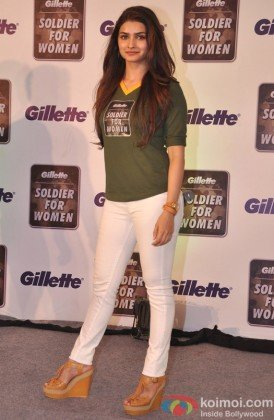Prachi Desai at Gillette Soldier for Women campaign
