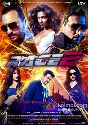 Race 2 Review (Race 2 Movie Poster)