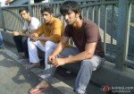 Raj Kumar Yadav, Amit Sadh and Sushant Singh Rajput in a still from Kai Po Che Movie