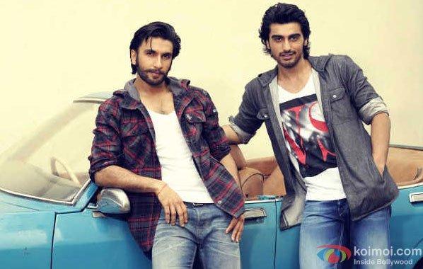 Ranveer Singh and Arjun Kapoor in a Gunday Movie Promotional Still