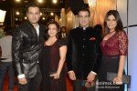 Rohit Roy and his wife Manasi Joshi Roy And Ronit Roy and his wife Neelam at Zee Cine Awards 2013