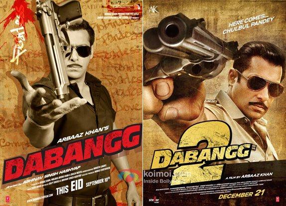 Salman Khan's Dabangg and Dabangg 2 Movie Poster