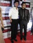 Shah Rukh Khan And Sachiin Joshi at 'Mumbai Mirror' Premiere