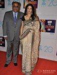 Sridevi with husband Boney Kapoor at Zee Cine Awards 2013