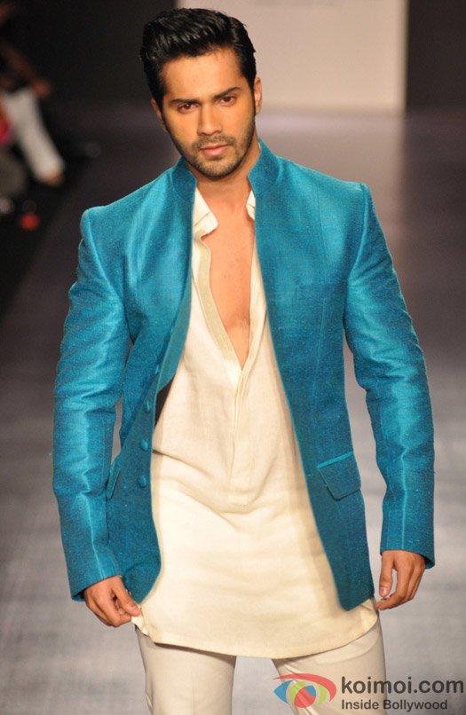Varun Dhawan walks the ramp for designer Manish Malhotra's show