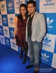 Vishal Malhotra with wife Rashi at a party hosted for him by Adidas Originals