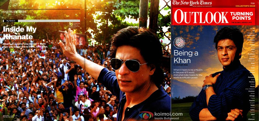 Shah Rukh Khan Outlook Magazine 2013