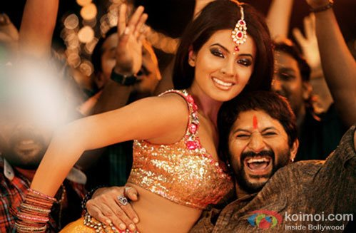 Geeta Basra and Arshad Warsi in a still from Zila Ghaziabad Movie