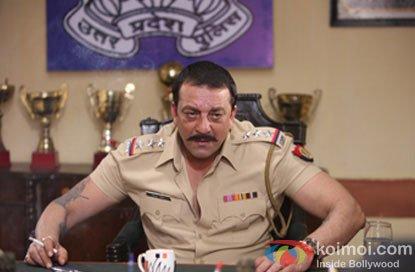 Sanjay Dutt in a still from Zila Ghaziabad Movie