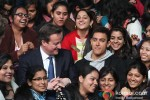 Aamir Khan with David Cameron at JDM Women College, Delhi Pic 1