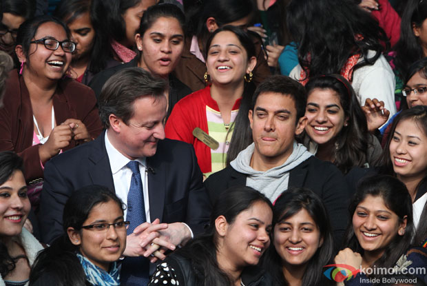 Aamir Khan with British Prime Minister David Cameron