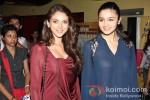 Aditi Rao Hydari And Alia Bhatt at Murder 3 Special Screening