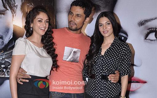 Aditi Rao Hydari, Randeep Hooda, Sara Loren at Murder 3 Press Meet