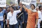 Ajay Devgn and Arjun Rampal in Satyagraha Movie Stills
