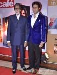 Amitabh Bachchan And Abhishek Bachchan at 'Hindustan Times Mumbai's Most Stylish 2013' Awards Pic 1