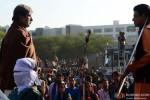Amitabh Bachchan and Manoj Bajpai in Satyagraha Movie Stills