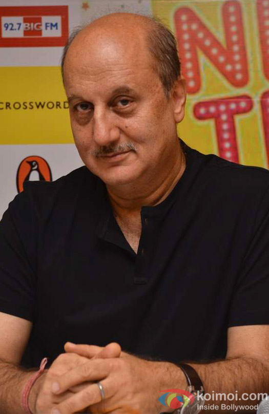 Anupam Kher gives a thoughtful glance