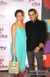 Anusha Bhagat And Chetan Bhagat at 'Kai Po Che!' Movie Premiere