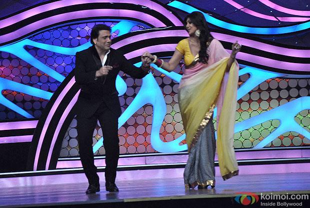 Govinda and Shilpa Shetty on the sets of Nach Baliye 5