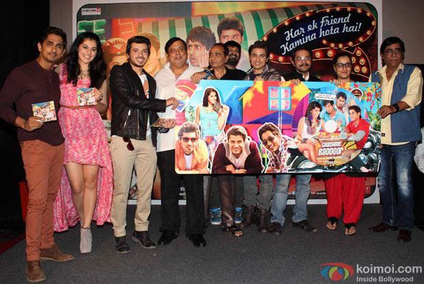 Siddharth, Taapsee Pannu, Divyendu Sharma, David Dhawan and Ali Zafar at Chashme Buddoor Music Launch