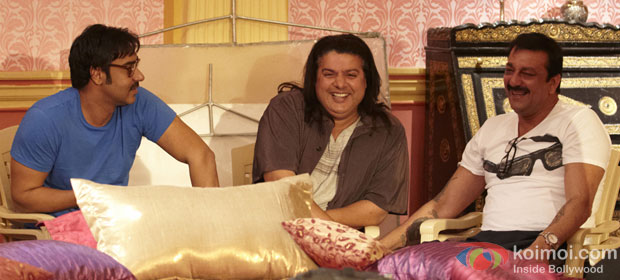 Ajay Devgn, Sajid Khan and Sanjay Dutt