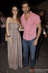 Suzzane Roshan and Hrithik Roshan at Sanjay Leela Bhansali's Birthday Bash