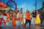 Jackky Bhagnani dancing with television actors Santosh Shukla, Kamya Punjabi, Sumeet Raghavan and Urvashi Dholakia on the sets of 'Nautanki - The Comedy Theatre' show Pic 1