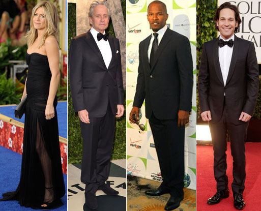 Jennifer Aniston, Michael Douglas, Jamie Foxx and Paul Rudd