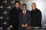 Karan Johar And Anupam Kher at the 4th Anniversary Party of Colors Channel